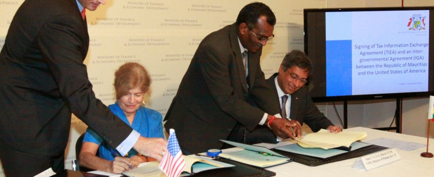 Mauritius and the United States to share tax information