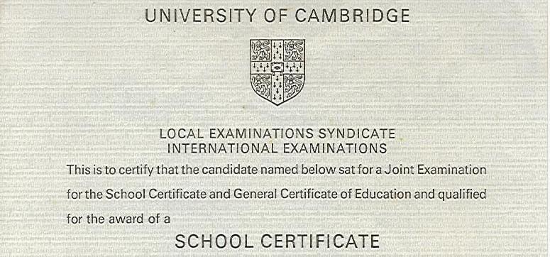 School Certificate: Un sans faute pour neuf collèges