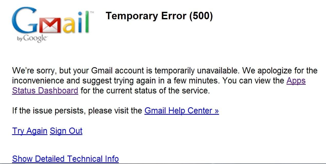 Panne mondiale de 20 minutes pour Gmail et Google drive