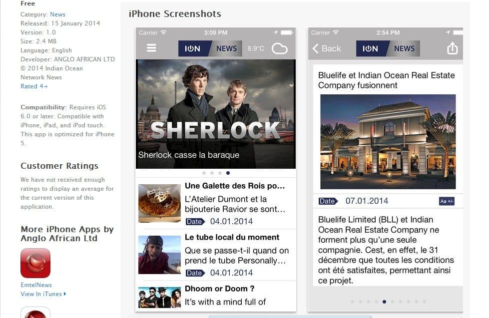 L'app Iphone d'ION News désormais disponible
