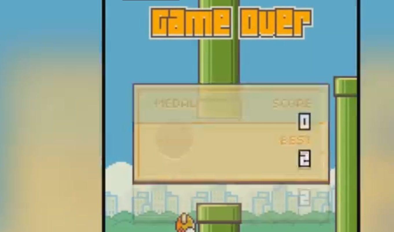 Flappy Bird : L'oiseau ne se relèvera pas cette fois