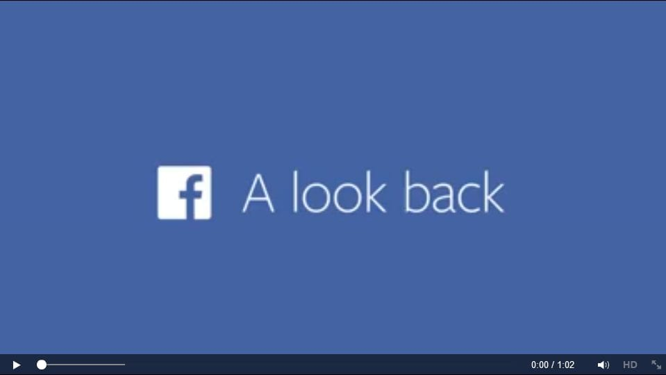 """For 10th birthday, Facebook gifts us with """"Look Back"""""""