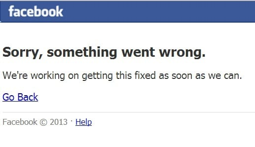 Facebook crashes worldwide
