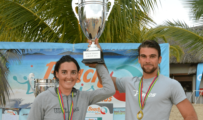 Beach tennis : Julie Dutos et Pierre Gadait vainqueurs du tournoi mixte