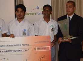 Le collège Royal de Curepipe s'arroge l'Omnicane Award 2014