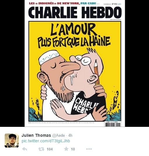 tweet charlie hebdo