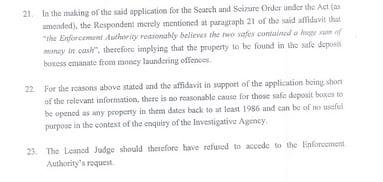 [Document] Coffres à la MCB: L'affidavit où Ramgoolam en conteste l'ouverture par la police