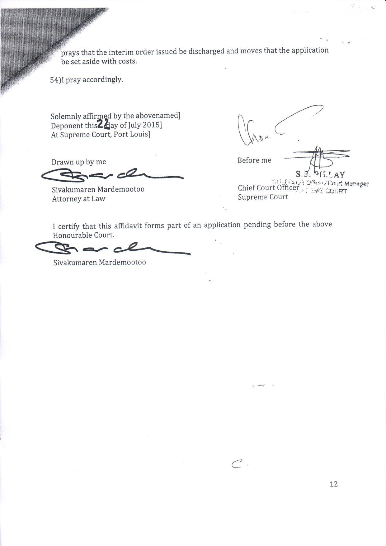 affidavit ICAC boolell 12