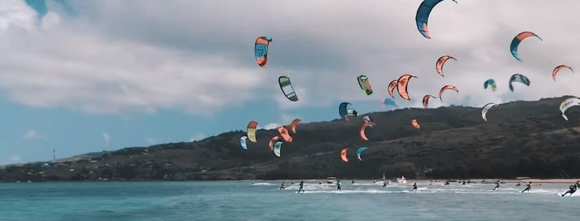 Rodrigues à l'heure de championnats mondiaux de kite surf