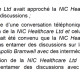 [Document] NIC Healthcare nie avoir retenu Megacom pour la vente d'Apollo Bramwell