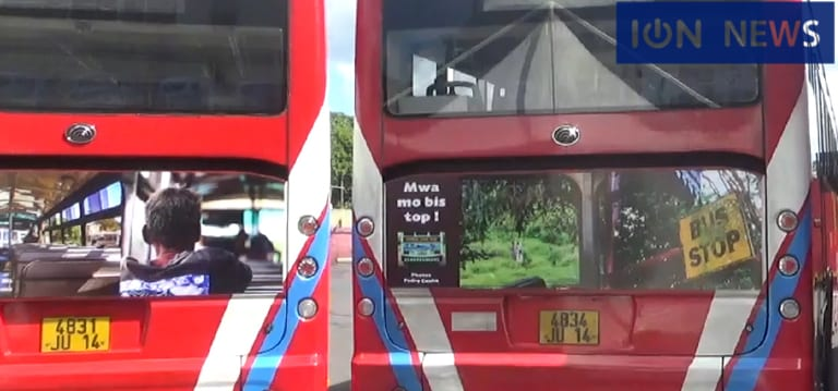 [Vidéo] 10 autobus de Rose-Hill Transport habillés des photos de l'album Moris dan Bis