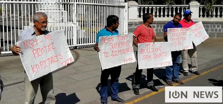 [Vidéo] Les taxis d'hôtels manifestent contre la hausse des prix des carburants