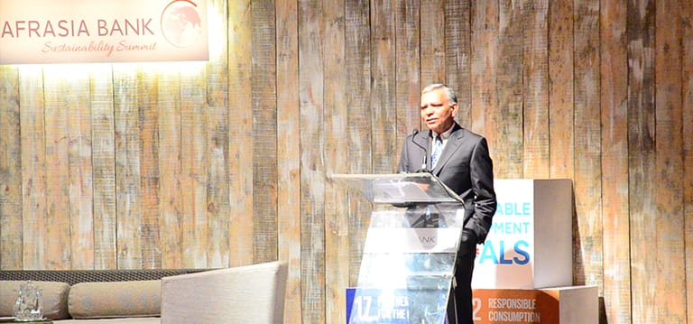[Video] AfrAsia : Corporate sector has to integrate sustainability for «survival of human race»