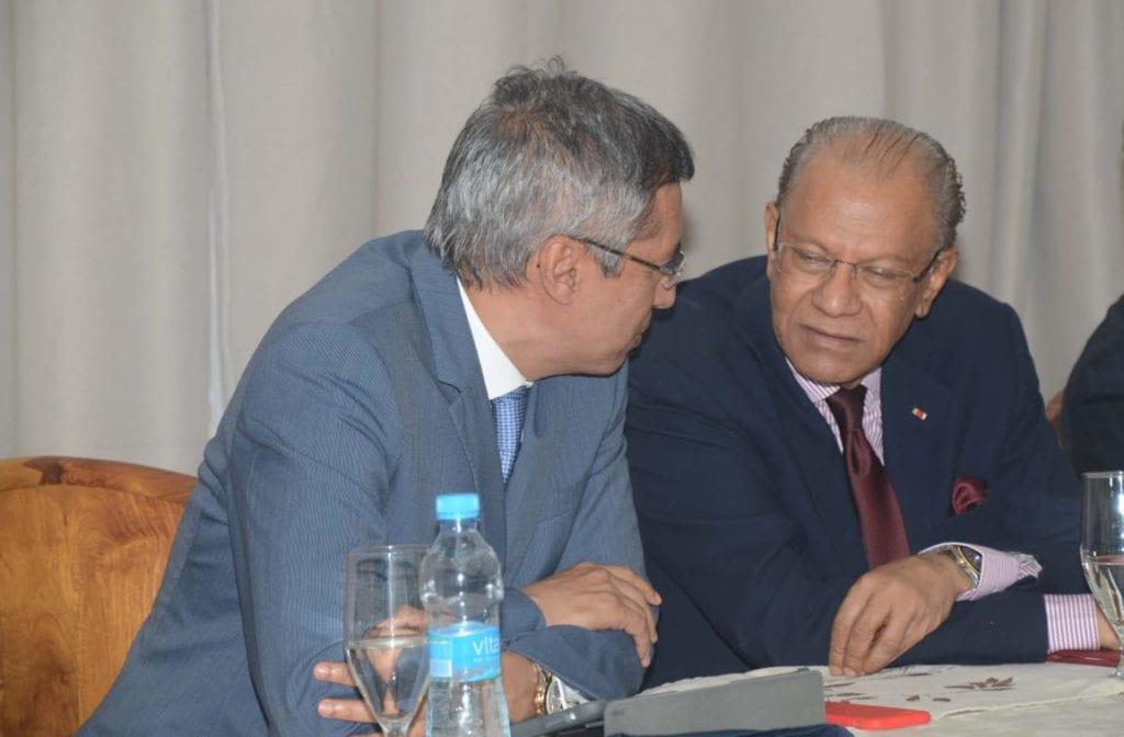Xavier Duval et Navin Ramgoolam