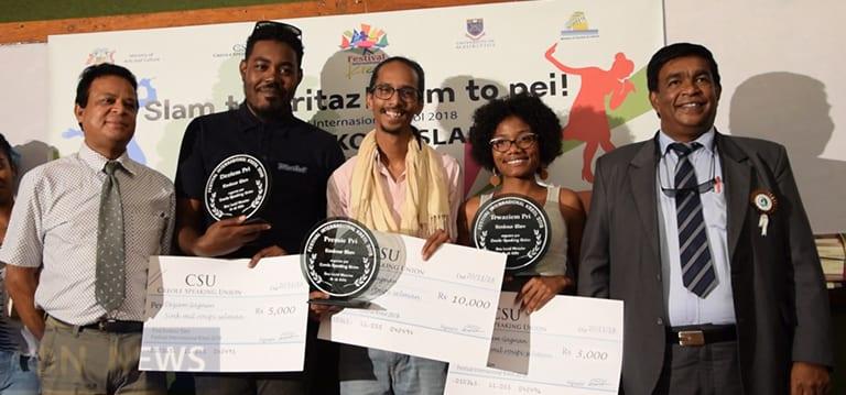 [Vidéo] Lionel Lajoie, lauréat du Konkour Slam 2018, dédie son texte à la jeunesse mauricienne