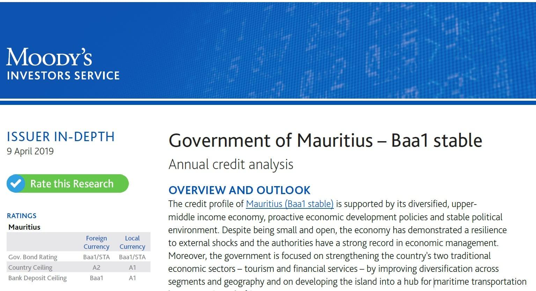 Face à la résilience du pays et une dette publique élevée, Moody's maintient sa note Baa1