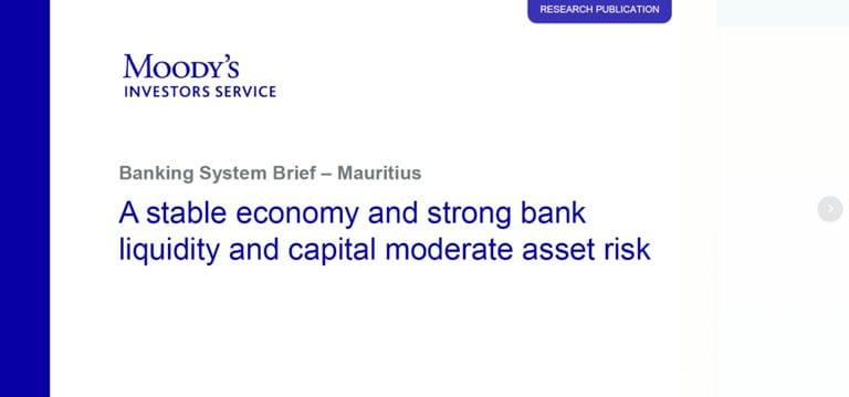 [Document] La croissance soutenue facilitera le crédit bancaire, dit Moody's