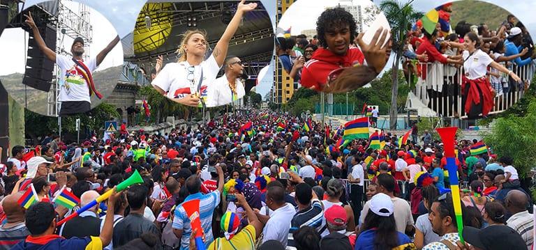 [Vidéo] Une foule des très grands jours rassemblée à Port-Louis pour célébrer la victoire de Maurice