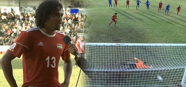 [Vidéo] Football: Un penalty de Perticots contre Mayotte à la 116e minute envoie Maurice en finale