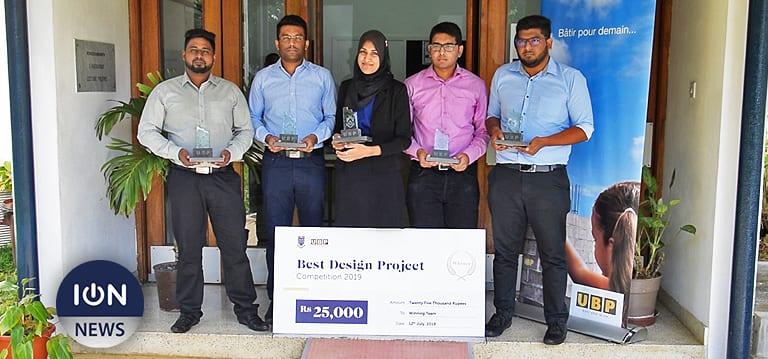 [Vidéo] UBP Best Design Project: Cinq étudiants de l'UOM se partagent un prix de Rs 25 000