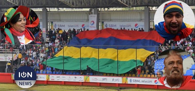 [Vidéo] Les supporters de l'équipe de Maurice gonflés à bloc pour la finale