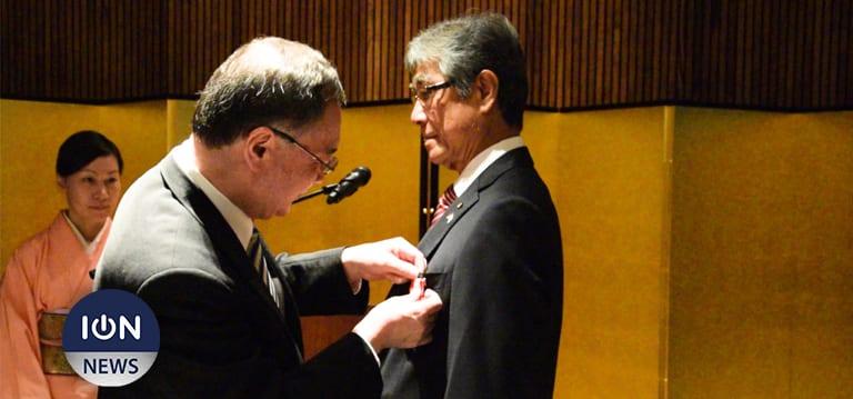 [Vidéo] : Georges Li Ying Pin reçoit la plus haute distinction décernée par le Japon aux étrangers