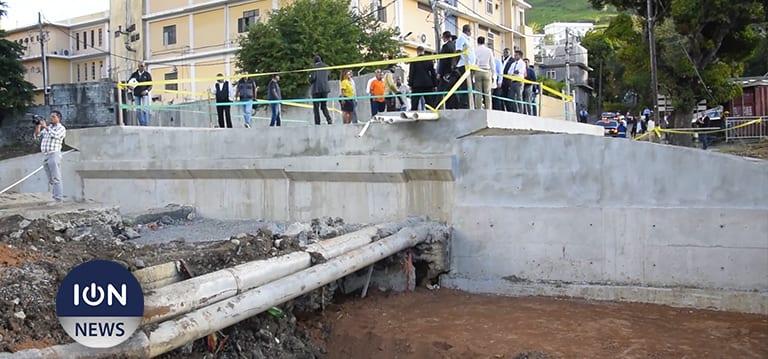 [Vidéo] La réfection du pont Marjolin, à Cité La Cure, «bientôt terminée», dit Jugnauth