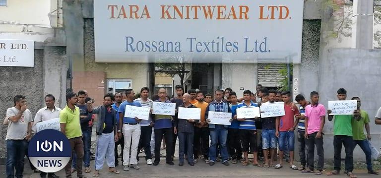 Les employés de Tara Knitwear et Rossana Textiles toucheront leurs salaires