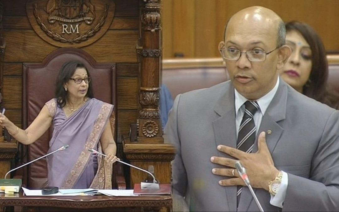 [Vidéo] Parlement: Sinatambou échappe de justesse à une sanction de Maya Hanoomanjee