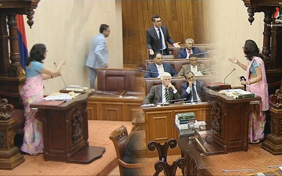 [Vidéo] Parlement: Jugnauth, Bérenger et Mohamed se chamaillent, Rutnah se fait expulser