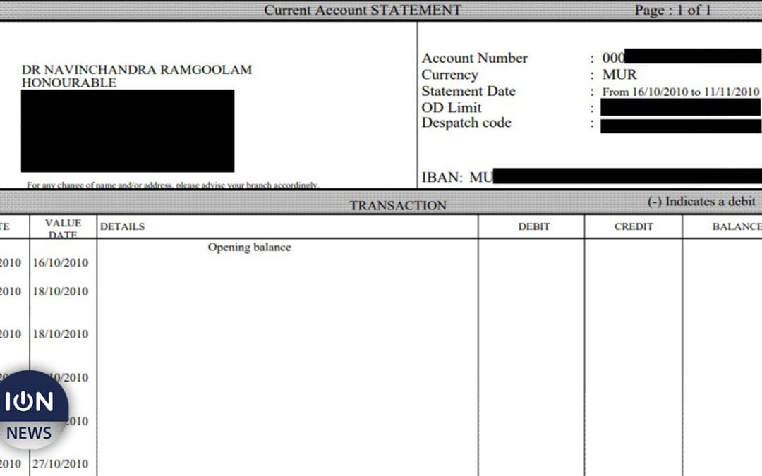 «Snowden» fait fuiter les relevés bancaires de Navin Ramgoolam