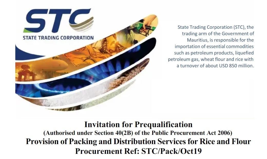  Sponsored Content  STC Prequalification Call for the Provision of Packing and Distribution Services for Rice and Flour