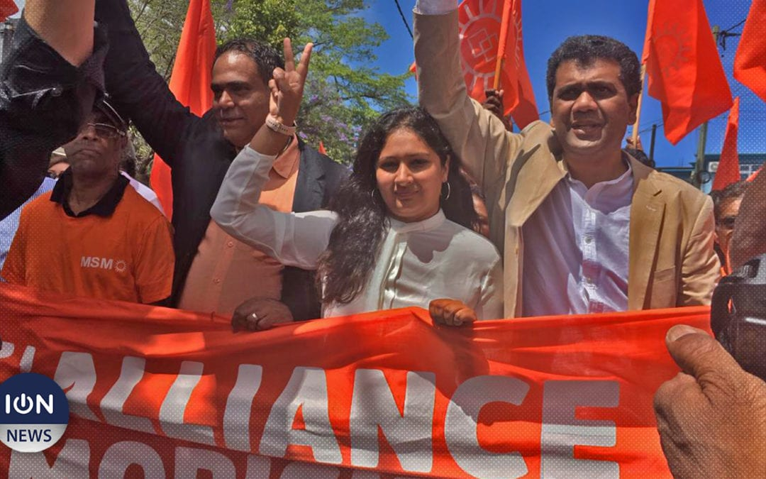 [Live] Kavy Ramano, Vikash Peerun et Tania Diolle l'Alliance Morisien déposent leurs candidatures