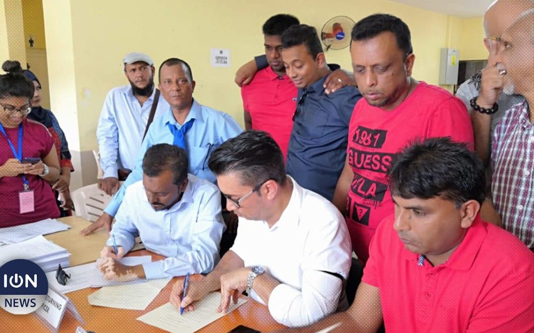 [Vidéo] Shakeel Mohamed et ses colistiers de l'Alliance Nationale à Port-Louis Maritime/Est s'enregistrent
