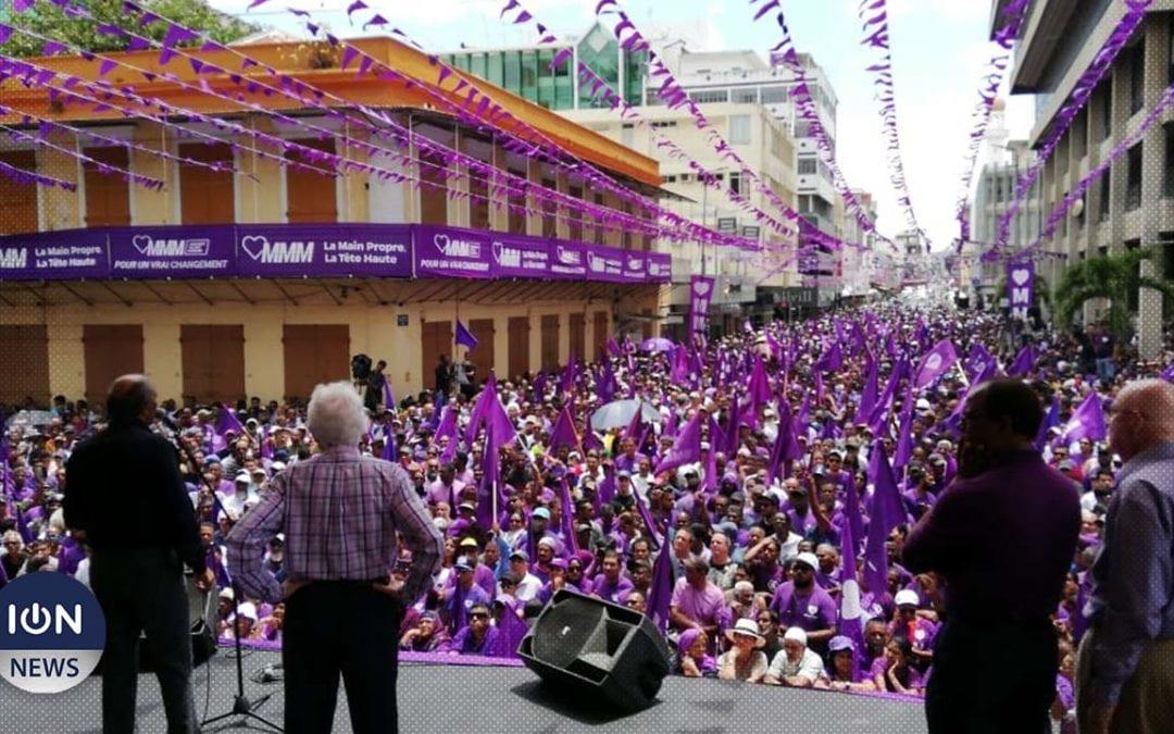 [Live] Le MMM regroupe ses troupes à Port-Louis avant le scrutin du 7 novembre