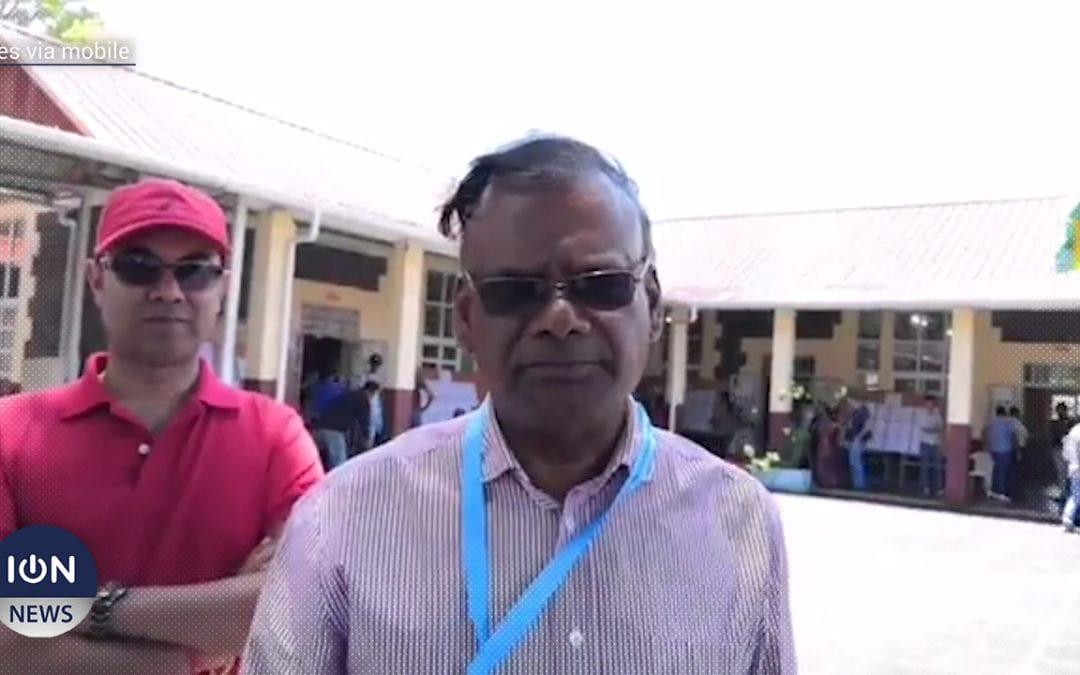 [Vidéo] Rama Sithanen de l'Alliance Nationale fait sa tournée à l'école Louis Nellan A