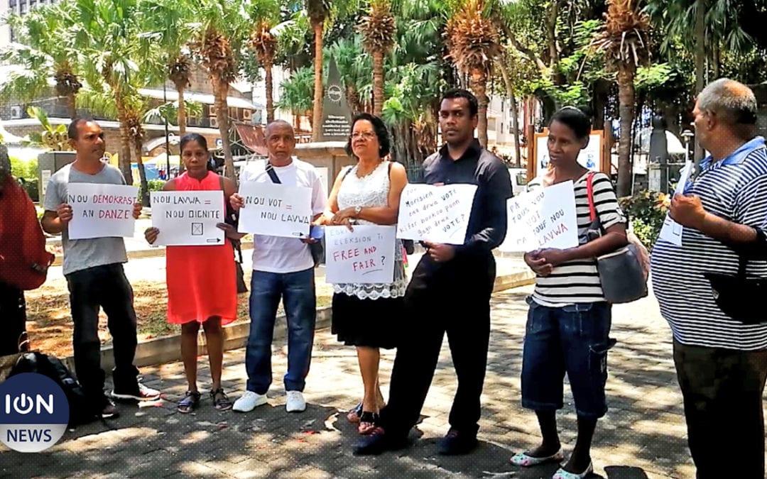 [Vidéo] «Nu Lavwa Nu Dignite» manifeste contre les irrégularités lors des législatives