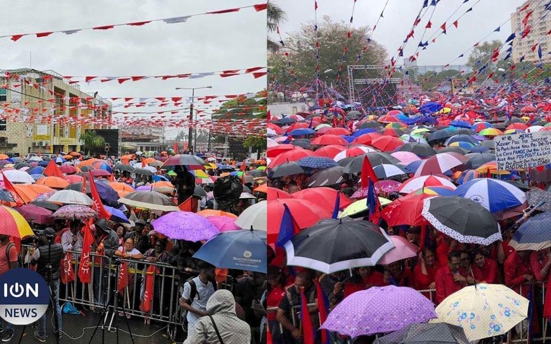 [Vidéo] La pluie joue au trouble-meeting à Vacoas et Quatre-Bornes