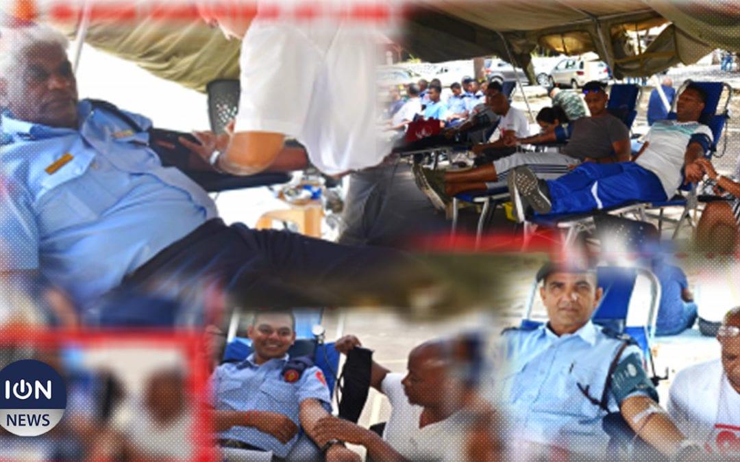 220 pintes de sang recueillies lors d'un don de sang aux Casernes centrales