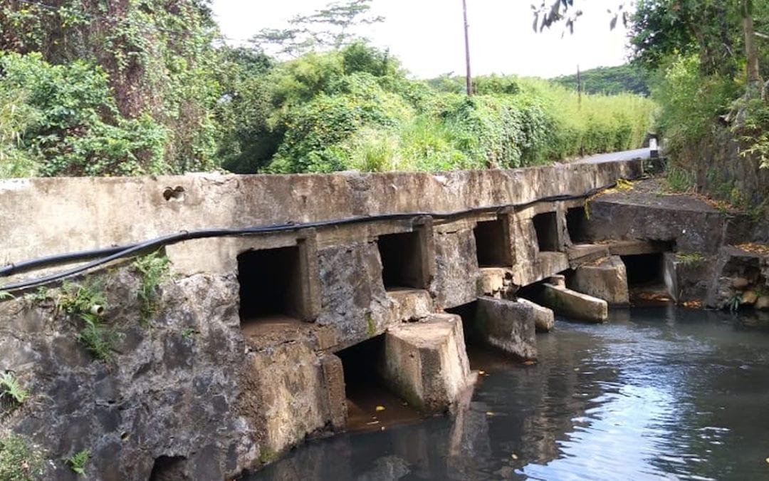 Inondations: Le pont St Denis à Chamarel sera démoli et remplacé