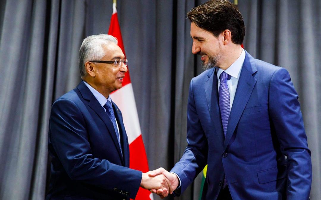 Chagos: Le Canada étudie comment il aidera Maurice, indique Trudeau à Jugnauth
