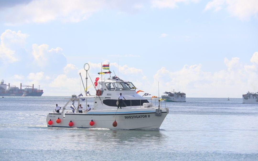 [Vidéo] Maurice prend livraison de l'Investigator II, bateau dédié à la recherche