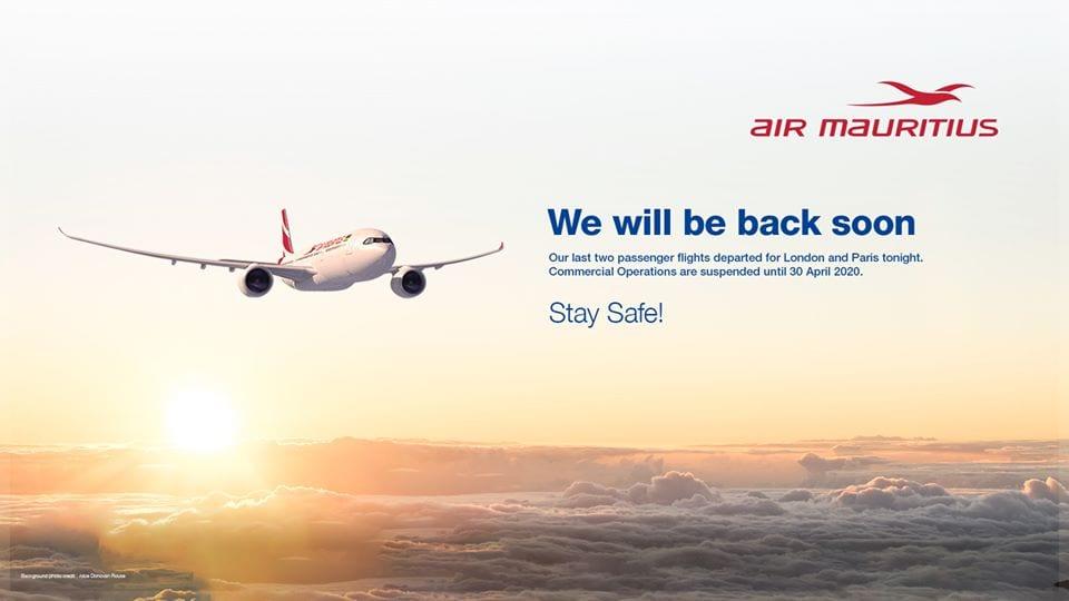 Covid-19 : Les deux derniers avions d'Air Mauritius rentrent à Plaisance vides