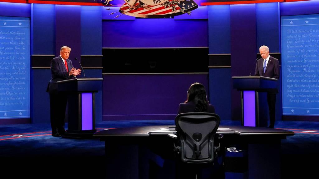 Election présidentielle américaine : un dernier débat plus policé entre Donald Trump et Joe Biden