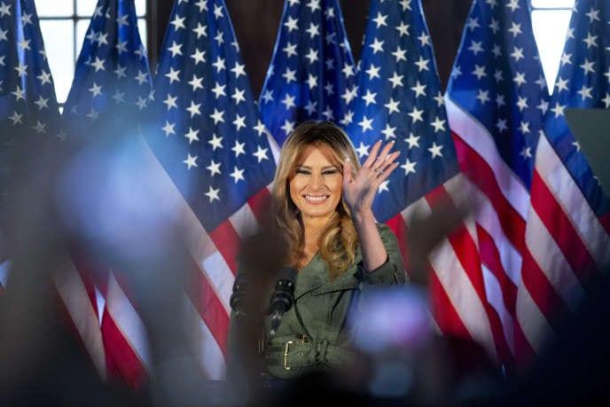 Elections américaines 2020 : premier meeting de campagne, en solo, pour Melania Trump