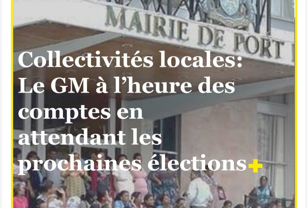 En couverture de votre ION News e-paper du 6 Octobre -Collectivités locales : Le GM à l'heure des comptes en attendant les prochaines élections.