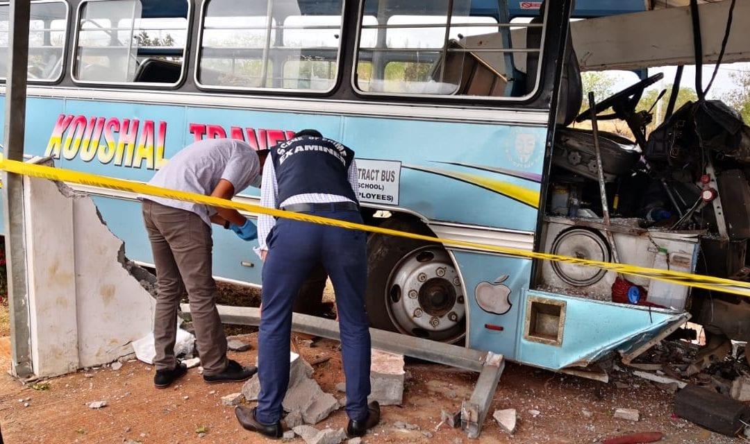 Accident à Pailles : La licence du propriétaire du bus révoquée