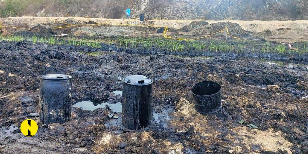 Fuite d'huile lourde à Les Salines : Le nettoyage bientôt achevé