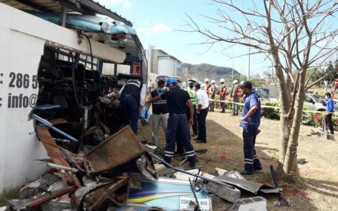 Accident à Pailles : La thèse de la vitesse et de l'état des freins évoquée