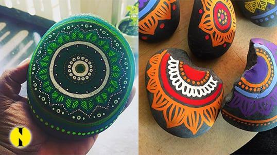 Mo'Mandala : Cynthia Chellamootoo apporte de la couleur aux galets